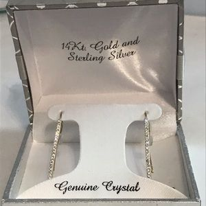 Gold and Silver Crystal Earrings